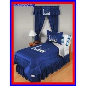 Detroit Lions 4Pc LR Twin Comforter/Sheets Bed Set Sports