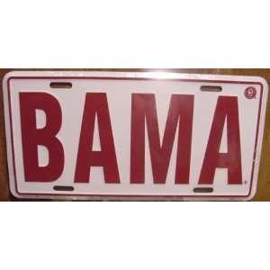 University Of Alabama Crimson Tide BAMA Embossed Metal License Plate