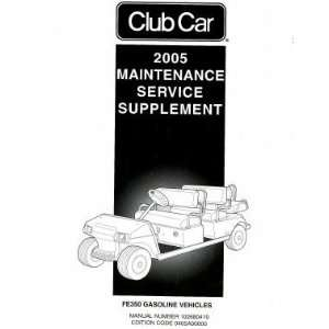 Car FE350 Gasoline Maintenance And Service Manual Supplement Club Car