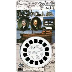 View Master 3D 3 Reel Card Lewis & Clark Set #1 Toys