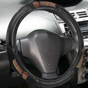 Sooners Black Vinyl Massage Grip Steering Wheel Cover Automotive