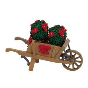Village Collection Wheelbarrow With Poinsettias #64479