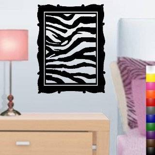 Zebra Print Panels Vinyl Wall Art Decal Sticker Decor