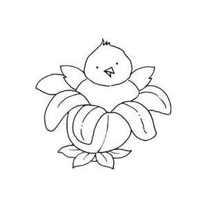 Art Gone Wild Rubber Stamps blooming Flower Chick 2Pk