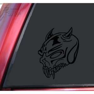 Demon Skull #1 Vinyl Decal Sticker   Black Automotive