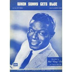 Sunny Gets Blue Vintage 1956 Sheet Music Recorded by Nat King Cole