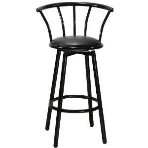 Gloss Black Crown Back Barstool Home & Kitchen