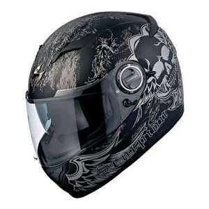 Scorpion EXO 500 Skull Motorcycle Helmet Small Matte Black