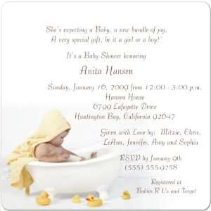 Splash Magnet Medium Baby Shower Invitations