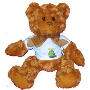 Brennan Rocks My World Plush Teddy Bear with BLUE T Shirt