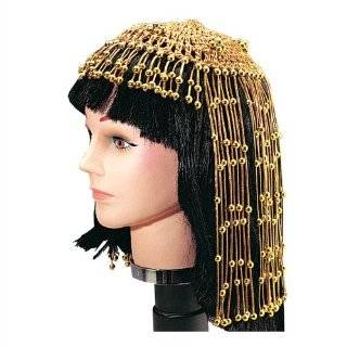 Womens Exotic Cleopatra Beaded Belly Dance Head Cap / Hat