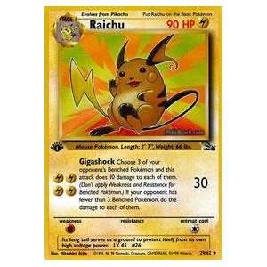 Pokemon   Raichu (29)   Fossil : Toys & Games :