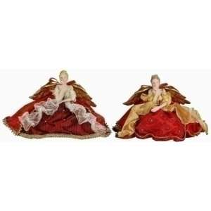 Set of 2 Joy to the World Porcelain Christmas Angel Figures