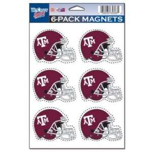 TEXAS A&M AGGIES OFFICIAL LOGO MAGNET 6 PACK Sports