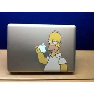 Homer Simpson Eating Apple Decal for MacBook and MBP All