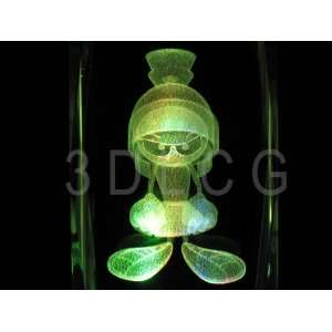 Marvin The Martian 3D Laser Etched Crystal SD 1