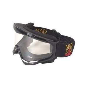 Stearns Mad Dog Deluxe ATV Goggles Black Sports