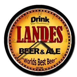 LANDES beer and ale cerveza wall clock: Everything Else