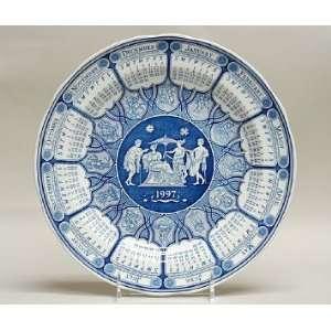 Spode Blue Room 1997 Annual Calendar Plate   Greek