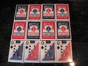 12 Decks Bicycle Pinochle Playing Cards Jumbo Index