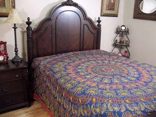 Ethnic Embroidered Rajasthan Indian Bedding Bedspread