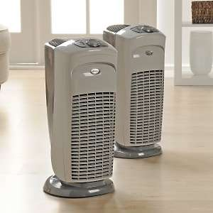 Hunter 2pk PERMAlife Tower Air Purifiers with 2 Extra Carbon Pre