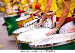 Scenes Of Samba Festival   Carnival In Coburg, Germany Stock Photo