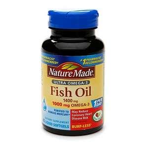 Buy Nature Made Ultra Omega 3 Fish Oil, 1400mg, Liquid Softgels & More