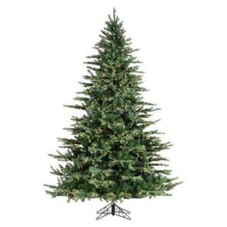 Pre Lit Layered Highlands Pine Tree Clear Lights   Green (7.5).Opens
