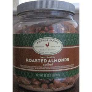 Archer Farms Roasted Almonds Salted 32oz  Grocery