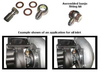 Banjo Fitting Kit w/ 12mm Bolt  4AN GT25R to GT35