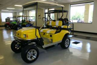 SEATER LIFTED ELECTRIC ST YELLOW CUSTOMIZED NEW BATTERIES GOLF CART