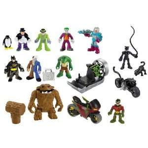 Imaginext Batman & Robin vs. Gotham City Villains Toys & Games