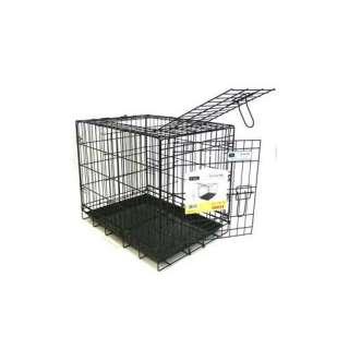 YML Double Door Heavy Duty Dog Crate in Black Dogs