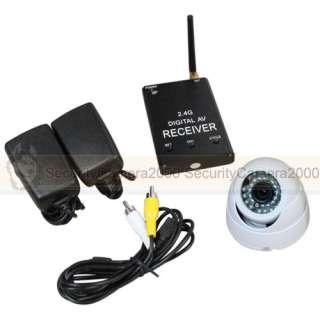 4GHz Wireless Digital 20m IR Mini Dome Camera Receiver Kit