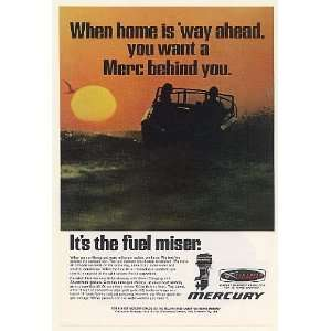 1969 Mercury Outboard Boat Motor Fuel Miser Print Ad