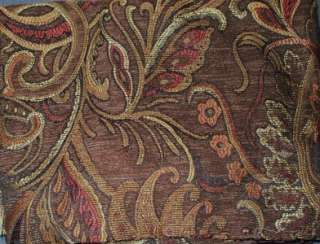 Chris Madden Palme Chenille Drapes Paisley Brown Rust 2 Panels per Pkg