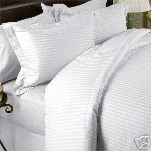 300 TC Full/Queen Duvet Comforter Cover Stripes White