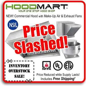 Commercial Kitchen Hood 4ft Restaurant Hood System w/ Make Up Air