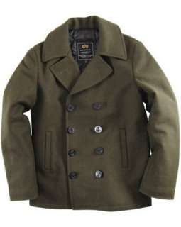 Alpha Industries Ensign Pea Coat: Clothing
