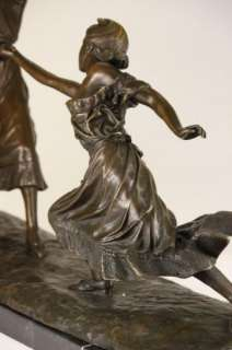 TWO FENCER FENCING BRONZE SCULPTURE FIGURINE FIGURE ART SPORT STATUE