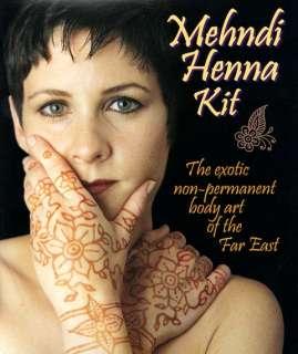 Jacquard MEHNDI HENNA Body Art KIT Temporary Tattoo DIY
