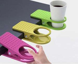 Office Table Desk Drink Coffee Cup Holder Clip Drinklip