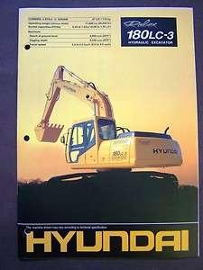 Hyundai Robex 180LC 3 Hydraulic Excavators Brochure/Specs Book