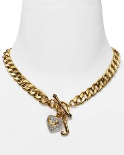 Couture Gold Tone and Pavé Starter Necklace, 16L