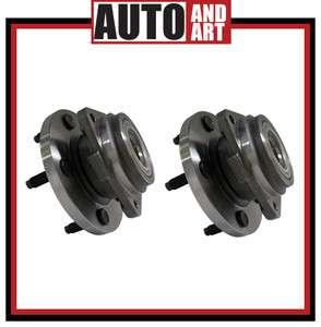 New Pair Set Front Wheel Hub & Bearing Kit 99 04 Jeep Grand Cherokee
