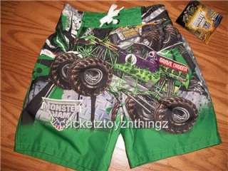 MONSTER JAM GRAVE DIGGER TRUCK Swim Trunks Water Pants Bathing Suit