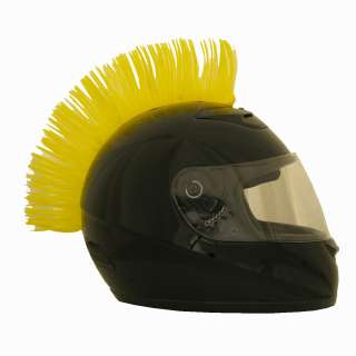 Yellow Motorcycle Scooter ATV Dirt bike Helmet Mohawk