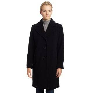 Ak Anne Klein Womens Side Seamed Wool Coat: Explore