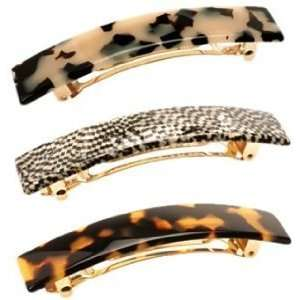 France Luxe Classic Rectangle Barrette Beauty